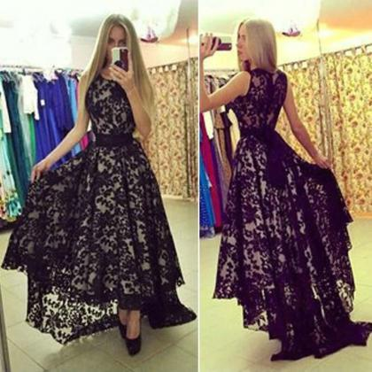 Lace Prom Dresses Floor Length pst0..