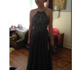 Deep Grey Prom Dress..