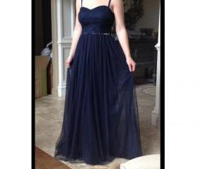 Navy Prom Dress Even..
