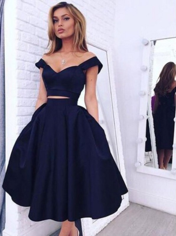Navy Blue Homecoming Dresses Short Prom Dresses Formal Dresses On