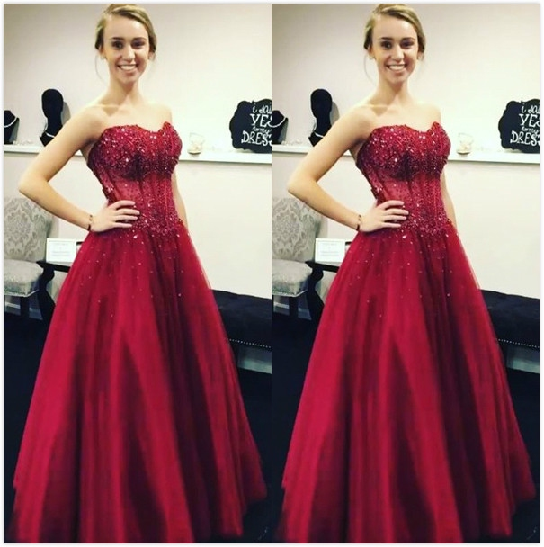 Tulle Red Prom Dresses, Formal Dresses, Graduation Party Dresses ...