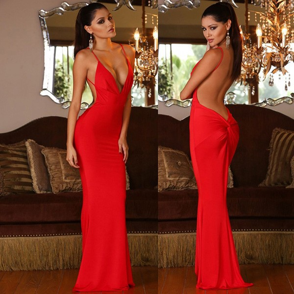Low Open Back Prom Dresses