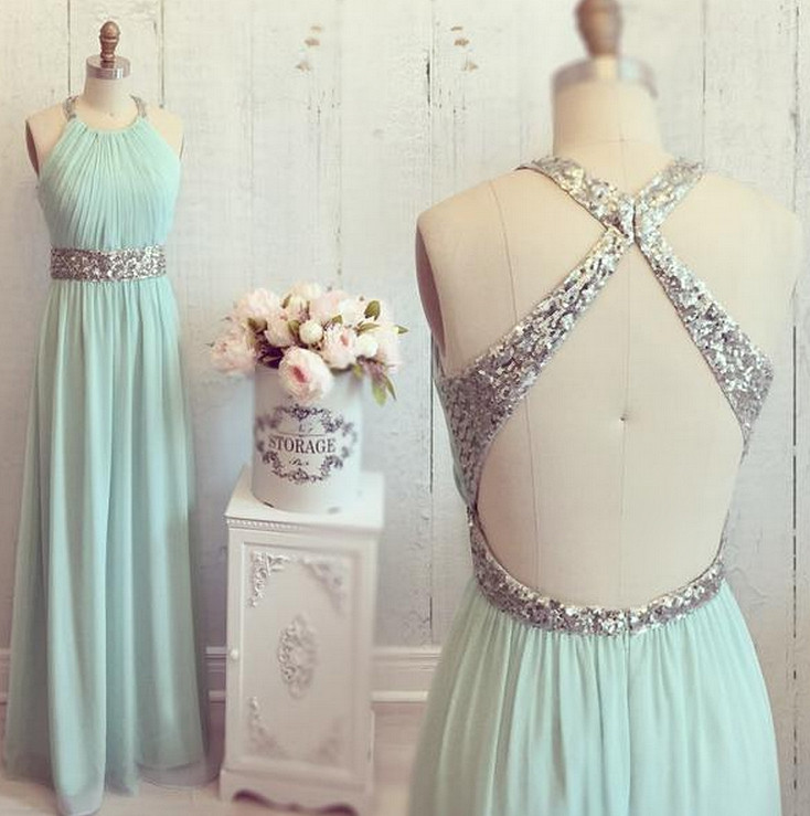 Backless Prom Dress Sexy Evening Party Gown pst0923