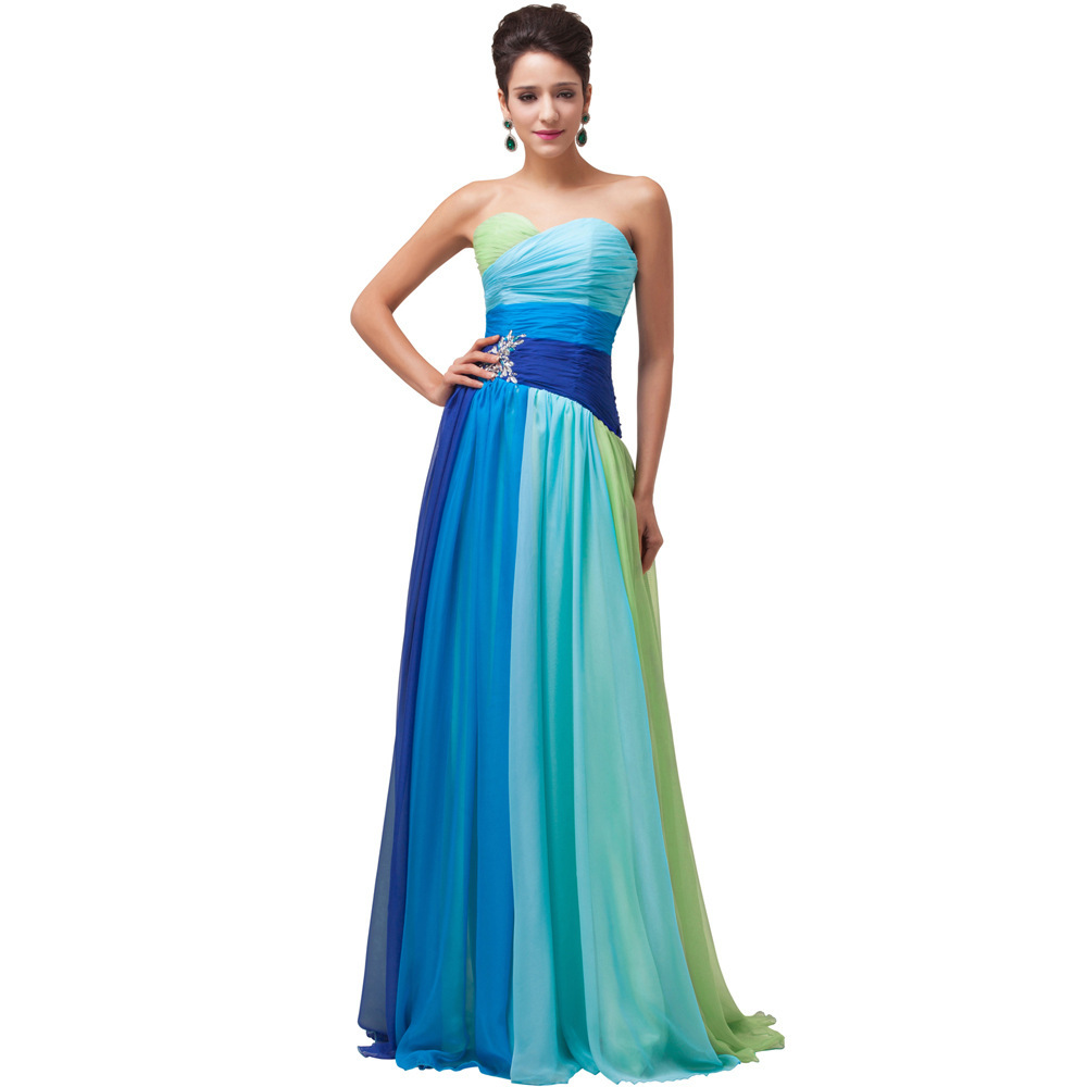 Multi-colored Bridesmaid Dresses, Wedding Party Dresses,evening ...