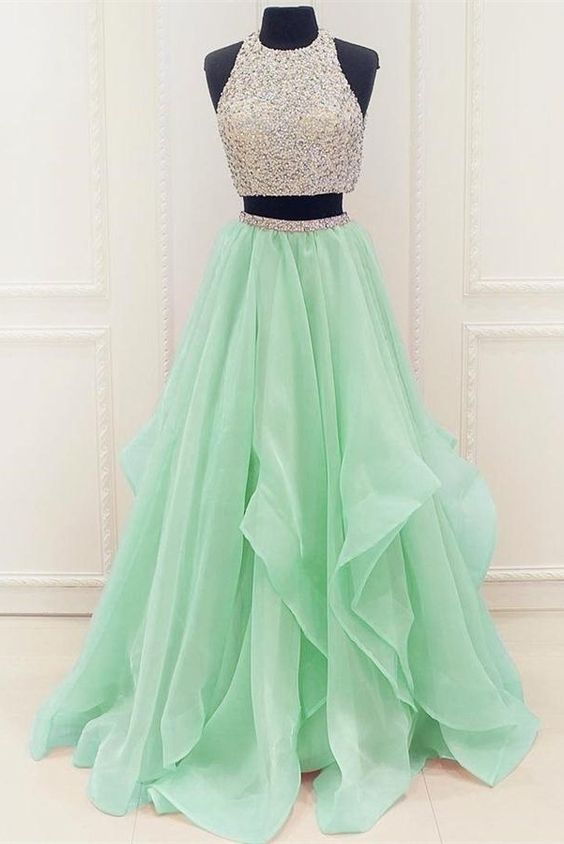 Two Pieces Prom Dresses Party Dresses Banquet Dresses Formal