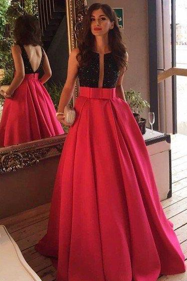 Red and Black Prom Dresses, Formal Dresses, Graduation Party Dresses, Banquet Gowns