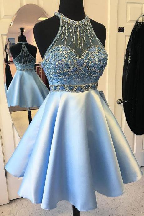 Halter Homecoming Dresses, Formal Dresses, Graduation Party Dresses, Banquet Gown
