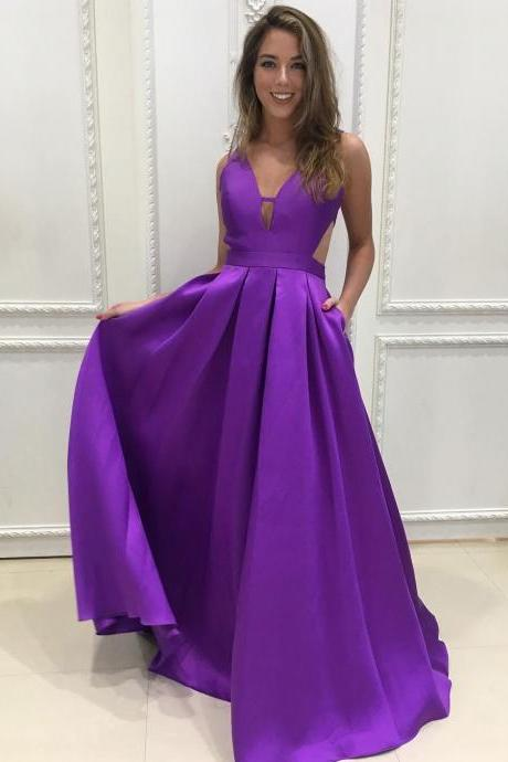 Sexy Prom Dresses with Pockets, Prom Dress, Evening Dresses, Formal Dresses, Graduation Party Dresses, Banquet Gown