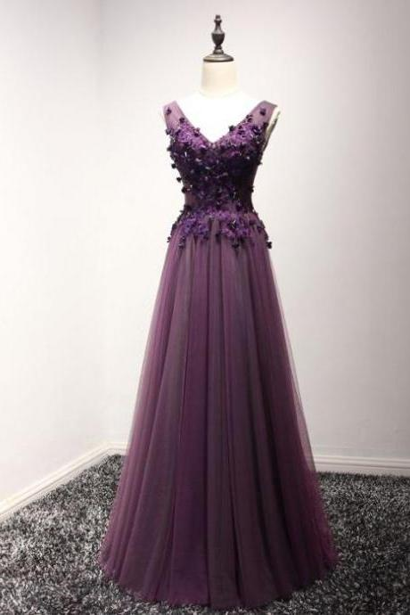 A-line Prom Dresses with Corset Back, Prom Dress, Evening Dresses, Formal Dresses, Graduation Party Dresses, Banquet Gown