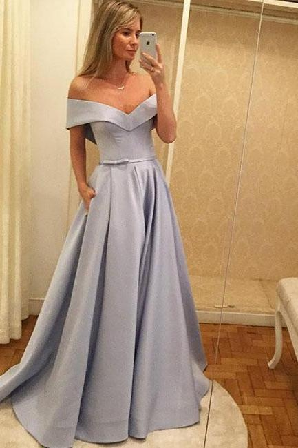 Prom Dresses 2018 With Pockets, Prom Dress, Sweet 16 Dress, Evening Dresses, Pageant Dresses, Graduation Party Dresses, Banquet Gown