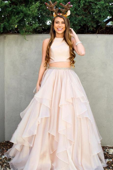 Two Pieces Prom Dress, Sweet 16 Dress, Evening Dresses, Pageant Dresses, Graduation Party Dresses, Banquet Gown