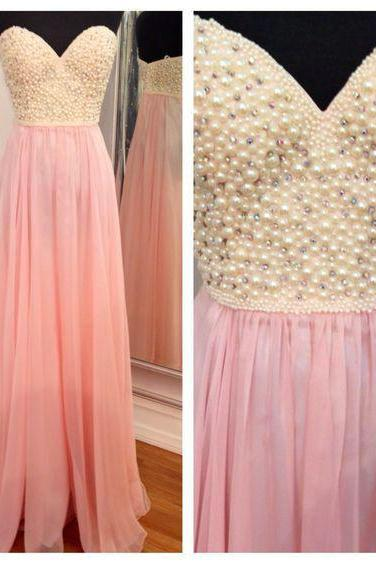 Beaded Chiffon Prom Dresses Floor Length pst420