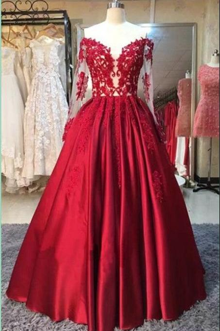 lace ball gown prom dresses,evening dresses,graduation party dresses