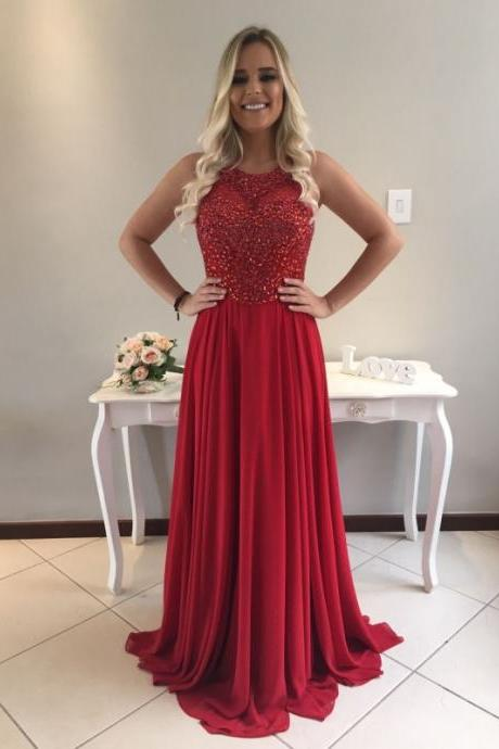 beaded red prom dresses, formal dresses, wedding party dresses, graduation party dresses,sweet 16 dresses