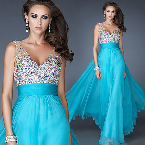 beaded chiffon prom dresses, graduation party dresses,evening dresses